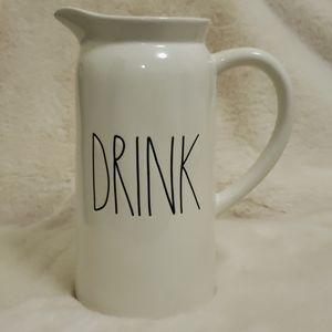 Rae Dunn Drink Pitcher 9 inch NWT